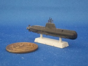 1/1250 Type 214 submarine in Smooth Fine Detail Plastic