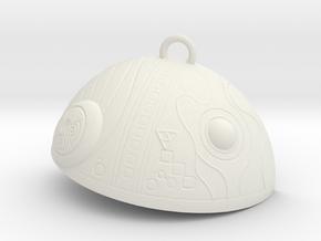 Space Machine in White Natural Versatile Plastic: Small