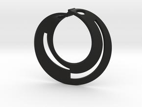 Mobius open bicolour in Black Premium Versatile Plastic