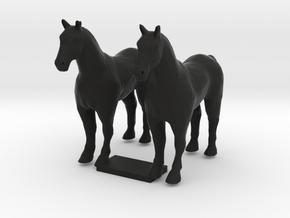HO Scale Draft Horses in Black Natural Versatile Plastic