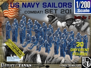 1/200 USN Combat set 201 in Smoothest Fine Detail Plastic