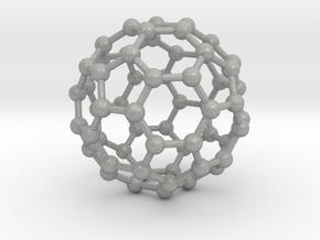 0370 Truncated Icosahedron V&E (a=1cm) #003 in Aluminum