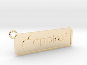 Apple II Badge Pendant in 14k Gold Plated Brass