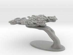Squiggle Tree Half Size in Metallic Plastic