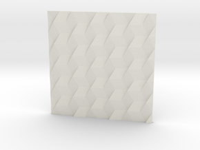 SqueezedBoxesRectangle2 in White Natural Versatile Plastic