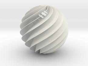 HeliosHelixTurbin-D15-13-blad-T1mm in White Natural Versatile Plastic