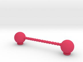 Knife rest & Cutlery rest.  Row of spheres in Pink Processed Versatile Plastic