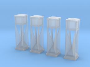 4 verkeerszuilen (1:87) in Smooth Fine Detail Plastic