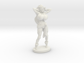 Captain Veronika Red RPG 40mm Mini in White Premium Versatile Plastic
