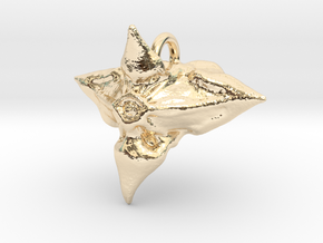 Caltrop Seed Pendant in 14k Gold Plated Brass