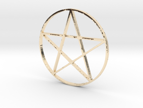 Large Pentagram (Pentacle) in 14k Gold Plated Brass