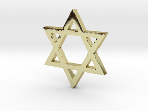 Jewish Star (Hexagram) in 18k Gold