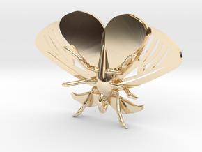 Satin Moth Pendant in 14K Yellow Gold