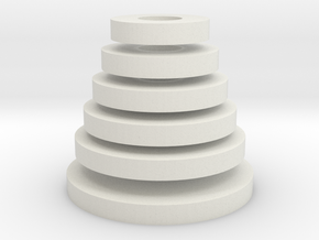 Tower of Hanoi (disks) in White Natural Versatile Plastic