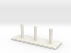 Tower of Hanoi (rods) in White Natural Versatile Plastic