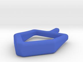 2D spinning hanukkah dreidel in Blue Processed Versatile Plastic