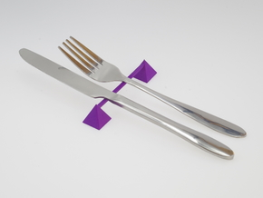 Knife rest & Cutlery rest pyramid in Purple Processed Versatile Plastic