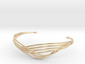 Cecilie Cuff Bracelet in 14k Gold Plated Brass