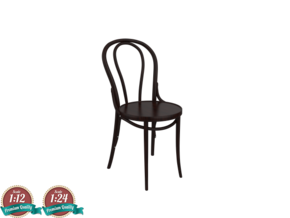 Miniature Thonet No 18 Chair - Thonet in White Natural Versatile Plastic: 1:24