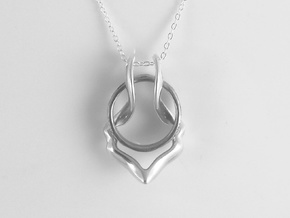 Ring Holder Pendant: Gazelle in Polished Silver