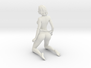 Seductive posture 003 in White Natural Versatile Plastic: 1:10