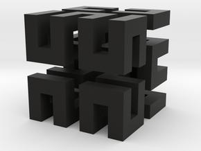Hilbert cube ( pendant ) in Black Premium Strong & Flexible