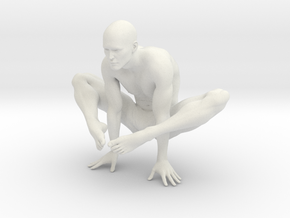 Male yoga pose 002 in White Natural Versatile Plastic: 1:10