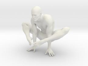 Male yoga pose 002 in White Natural Versatile Plastic: 1:10