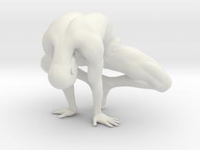 Male yoga pose 003 in White Natural Versatile Plastic: 1:10