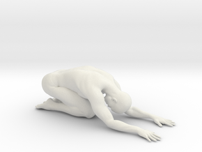 Male yoga pose 004 in White Natural Versatile Plastic: 1:10