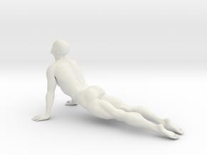 Male yoga pose 006 in White Natural Versatile Plastic: 1:10