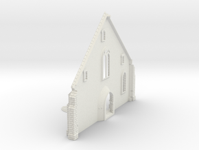 HORelM0132 - Gothic modular church in White Natural Versatile Plastic