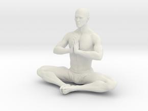 Male yoga pose 011 in White Natural Versatile Plastic: 1:10