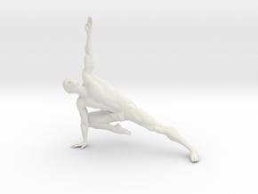 Male yoga pose 015 in White Natural Versatile Plastic: 1:10