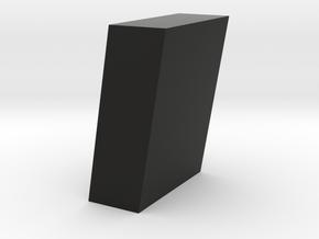 Monoclinic Crystal Model in Black Natural Versatile Plastic