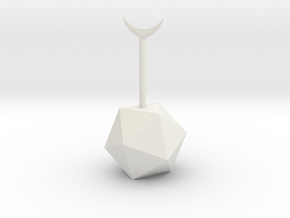 balancing board game (main piece) in White Natural Versatile Plastic: Small