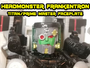 Headmonster Frankentron Face (Titans Return) in White Natural Versatile Plastic