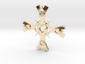 "large Ceridenkreuz pendant ""deluxe"" in 14k Gold Plated Brass"