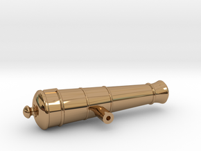 1:24 12-pounder Short cannon in Polished Brass