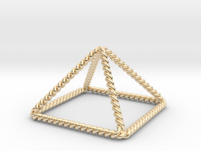 """Twisted Giza Pyramid 2.2"""" in 14K Yellow Gold"""