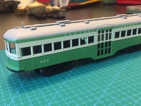 HO Illinois Terminal 470-473 Center Entrance Car in Smooth Fine Detail Plastic