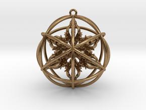 "Octuple Dorje Pendant 2"" in Natural Brass"