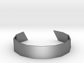 Triangle Facet Bracelet Sizes XS-XL in Polished Silver: Extra Small