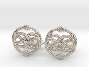 AURYN Cufflinks in Rhodium Plated Brass