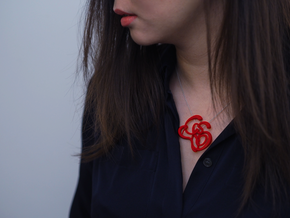 Gijsbrechts Calligraphy Pendant in Red Strong & Flexible Polished