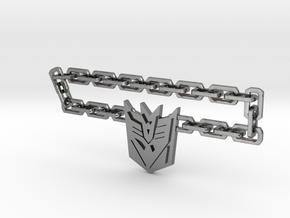 Nitro Zeus Chain, Con Symbol in Polished Silver (Interlocking Parts): Medium