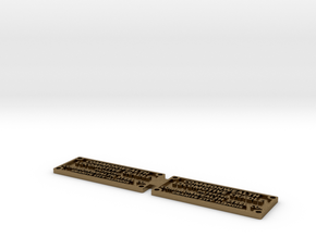 Commonwealth cradle builder plate in Natural Bronze
