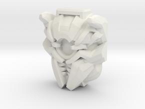 Nitro Zeus Face (Titans Return) in White Premium Versatile Plastic: Small