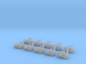1/192 RN Twin 40mm Bofors AA guns Set in Smooth Fine Detail Plastic