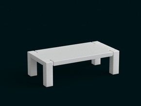 1:10 Scale Model - Table 01 in White Strong & Flexible